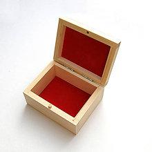 Obalový materiál - Drevená krabička s výstelkou - 10083867_