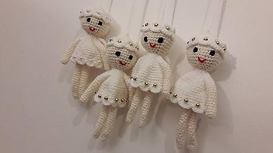 Dekorácie - biele anjeliky - 10083480_
