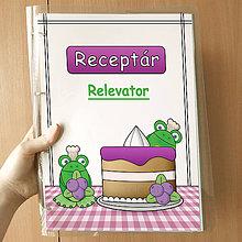 Papiernictvo - Žabie receptáre  (čučoriedkový) - 10080777_