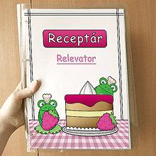 Papiernictvo - Žabie receptáre  (malinový) - 10080784_