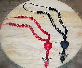 Iné šperky - Prívesok alebo amulet  do auta na želanie  s textom  menom alebo dátumom  aj farebne  podla vašeho priania - 10089529_