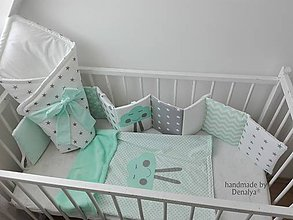 Textil - Set: Mantinel Basic 240x30,deka 70x90cm a zavinovačka s mašľou - 10088390_