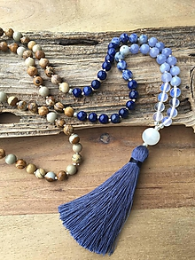 Náhrdelníky - Mala náhrdelník modré ombre - 10087900_