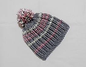 Detské čiapky - Detská čiapka - sivá - 10089590_