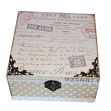 Krabičky - KRABICA NA ČAJ 4 priečinky (PAR AVION) - 10086810_