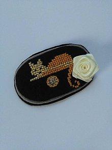 Odznaky/Brošne - Som cica (vyšívaná brošňa) - 10088421_