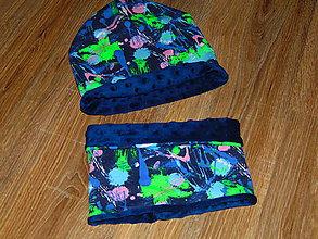 Detské čiapky - Set - čiapka a nákrčník - 10086009_