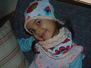 Detské čiapky - Nákrčník a čiapka na zimu - 10086034_