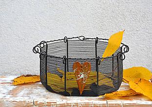 Košíky - Srdcovník. Drátovaný košík. - 10087958_