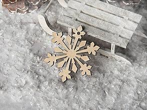 Dekorácie - Vianočná ozdoba vločka - 10086686_