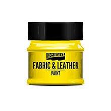 Farby-laky - Farba na textil a kožu, 50 ml, Pentart (žltá) - 10087111_