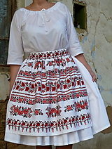 Iné oblečenie - Zásterka do pásu Vyšívané bordúry ruží - 10089098_