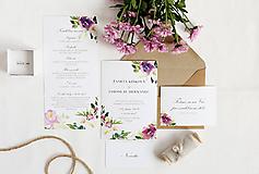 """Papiernictvo - Svadobné oznámenie """"Maľované kvety"""" - 10085889_"""