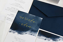 """Papiernictvo - Svadobné oznámenie """"Navy"""" - 10087199_"""