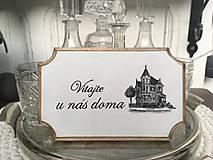 """Tabuľka na dvere """" Vitajte u nás doma """" (č. 1)"""
