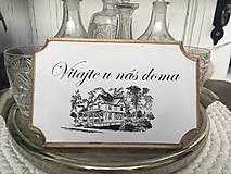 """Tabuľka na dvere """" Vitajte u nás doma """" (č. 2)"""