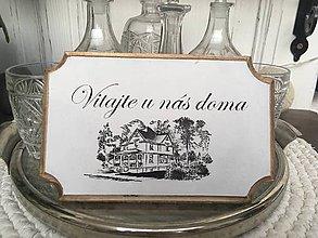 """Tabuľky - Tabuľka na dvere """" Vitajte u nás doma """" (č. 2) - 10085714_"""