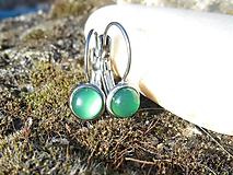 Náušnice - calcedônia  verde brincos - 10089444_