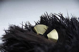 Náušnice - Mosadzne náušnice No. 1 - 10089364_