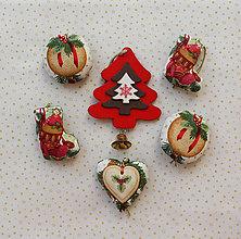 Dekorácie - Vianočné ozdoby - sada 5 ks - 10089172_