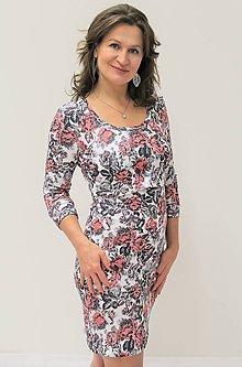 Tehotenské/Na dojčenie - 3v1 dojčiace TEPLÉ šaty, 3/4 rukáv, veľ. XS - M - 10085518_