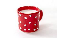 Nádoby - Červená farba - Farba Vianoc - 10086458_