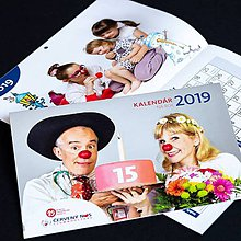 Nezaradené - ČERVENÝ NOS Clowdoctors: Kalendár na rok 2019 - 10086838_