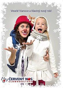 Nezaradené - ČERVENÝ NOS Clowdoctors: Vianočná pohľadnica - 10086892_