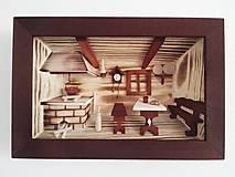 """Obrázky - Obraz drevený 3D """"Kuchynka"""" stredná - 10086474_"""