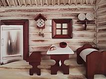 "Obrázky - Obraz drevený 3D ""Kuchyňa s posteľou"" malá - 10086544_"