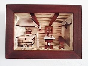 """Obrázky - Obraz drevený 3D """"Kuchynka"""" malá - 10086460_"""