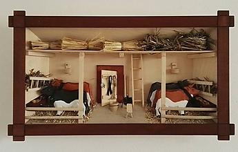 """Obrázky - obraz drevený 3D """"Maštaľ s kravičkami """" - 10086497_"""