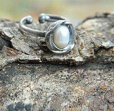 Prstene - Bílá /říční perla/ - 10089108_