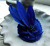 Odznaky/Brošne - brož pierko kráľovská modrá - 10088096_