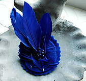 Odznaky/Brošne - brož pierko kráľovská modrá - 10088097_