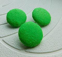 Materiál ručne robený - buttonky zelené / 3ks - 10087438_