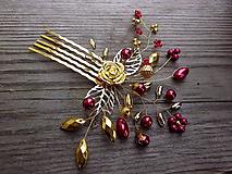 hrebienok zlatá ruža + červená