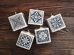 Svietidlá a sviečky - Sviečky - Ornamenty,Mandaly - Pomaranč&Škorica - 10086001_