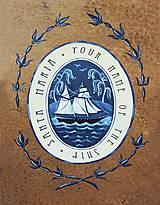 Detské doplnky - Maľovaná lodná truhlica s mapou - 10086344_