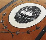 Detské doplnky - Maľovaná lodná truhlica s mapou - 10086347_