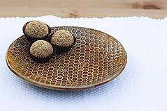 Nádoby - Set 3 tanierov - plytký, hlboký a dezertný - medová kolekcia - 10086451_