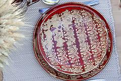 Nádoby - Set 3 tanierov - plytký, hlboký a dezertný - ľudová kolekcia - 10086492_