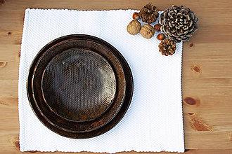 Nádoby - Set 3 tanierov - plytký, hlboký a dezertný - medená kolekcia - 10086404_
