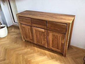 Nábytok - Komoda z masívneho dubového dreva - 10085492_