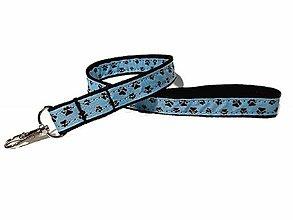 Kľúčenky - Kľúčenka modrá s labkami - 10086208_
