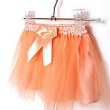 Detské oblečenie - Dětská tylová sukně pleťové barvy - 10086848_