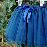 Detské oblečenie - Dětská tmavě modrá tylová sukně - 10086882_