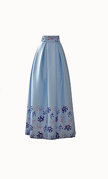 Sukne - MAXI saténová sukňa so vzorom - 10087856_