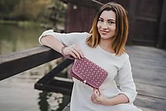 Kabelky - Ružová listová kabelka - 10089119_
