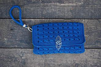 Kabelky - Listová kabelka modrá - 10089378_